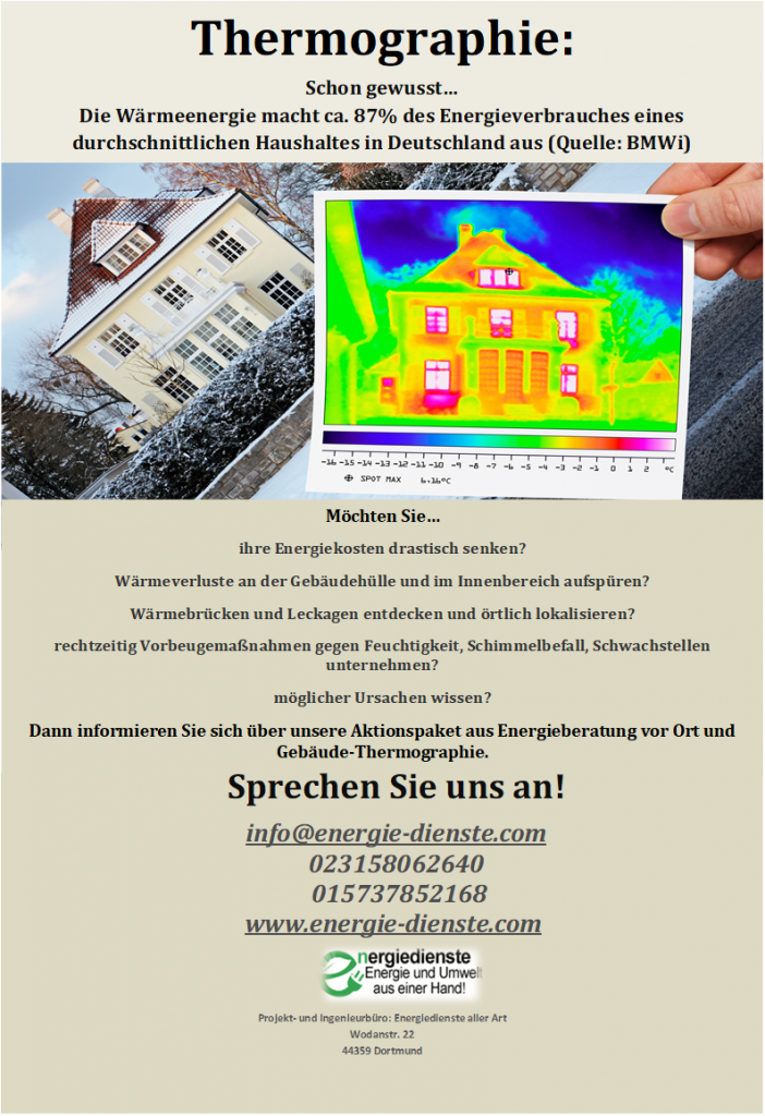 Gebäude-Thermografie Flyer
